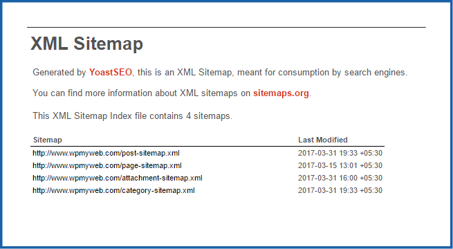 xml sitemap example linkskorner