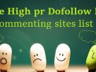 high pr blog commenting sites