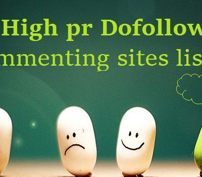 high pr blog commenting sites